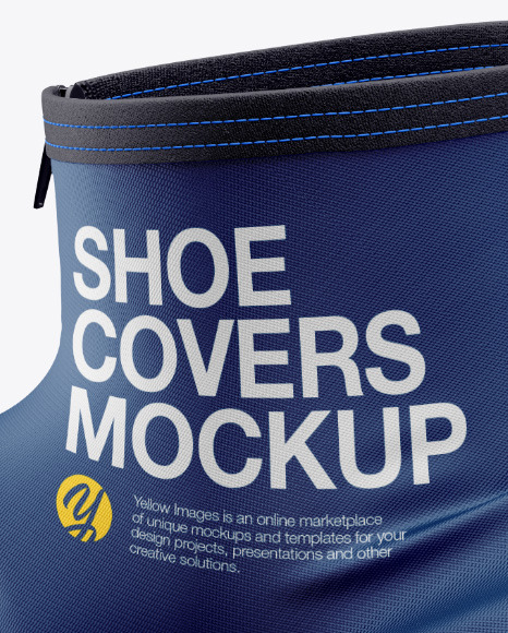 Cycling Shoe Covers Mockup - Half Side View