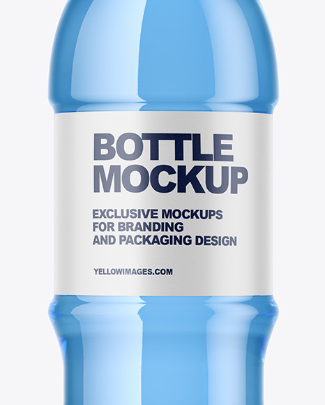 Download Blue Pet Bottle Mockup In Bottle Mockups On Yellow Images Object Mockups Yellowimages Mockups