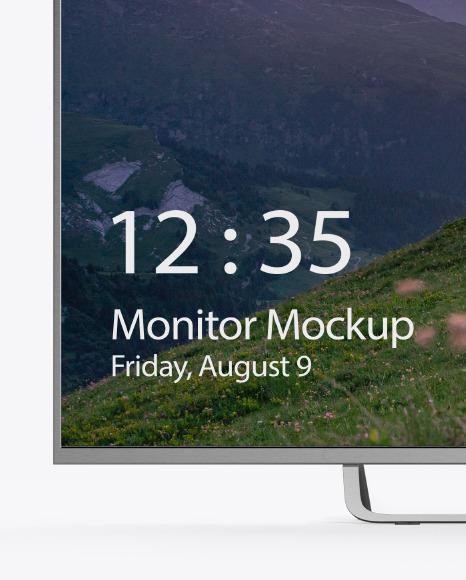 Metallic Monitor Mockup