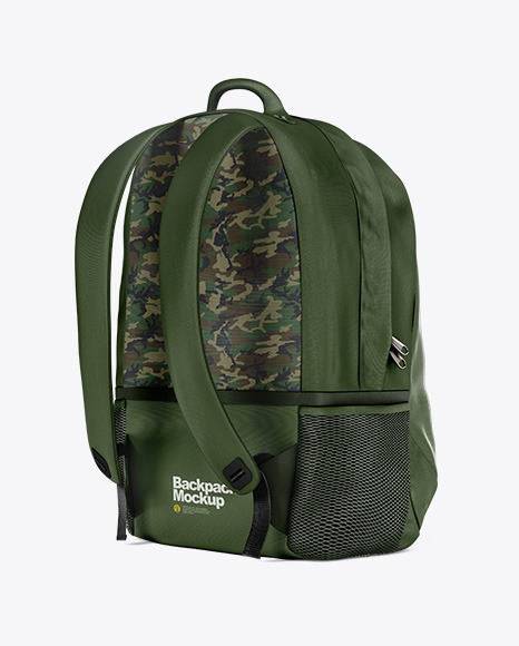 Download Backpack Mockup Back Half Side View Yellowimages