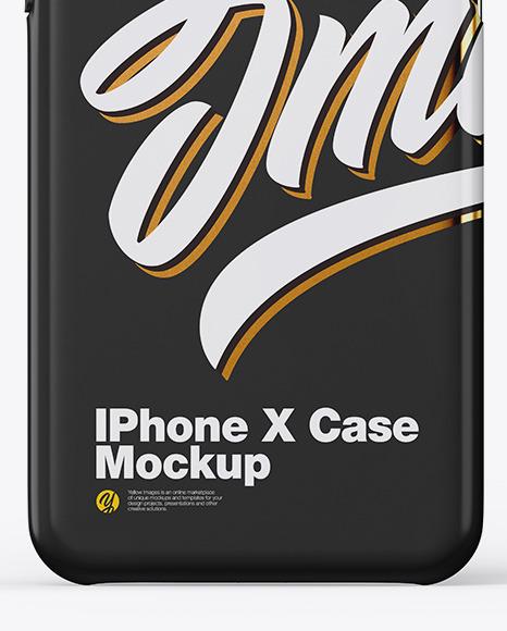 iPhone X Glossy Case Mockup