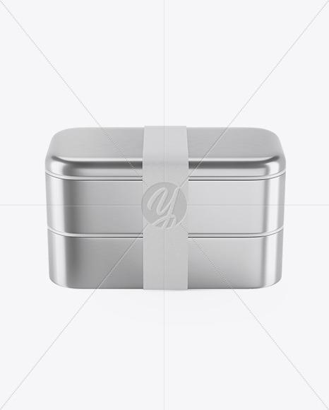 Metallic Lunch Box Mockup