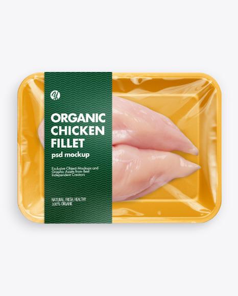 Tray w/ Chicken Fillet Mockup