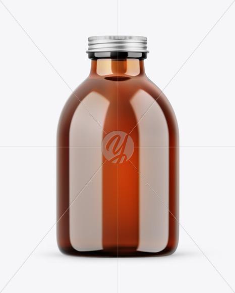 Amber Bottle Mockup