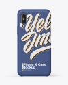 iPhone X Matte Case Mockup