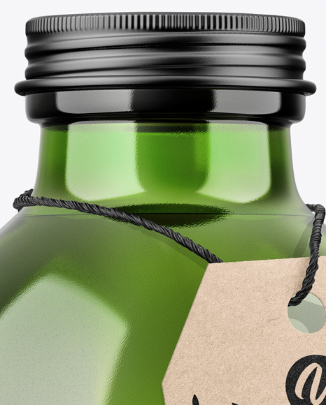 Green Bottle Mockup