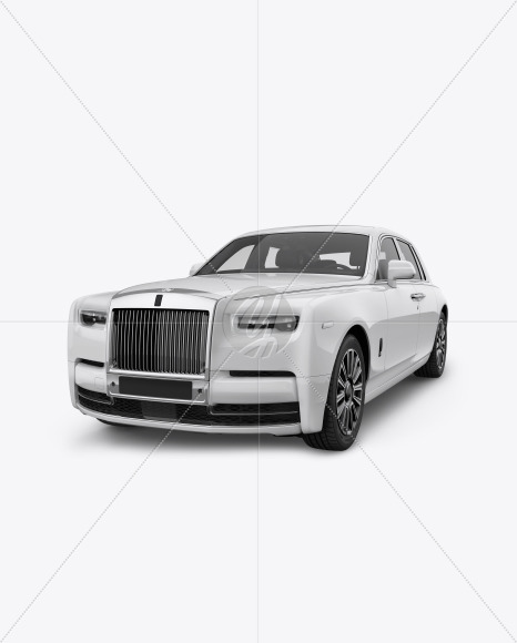 Luxury Car Mockup - Front Half Side View