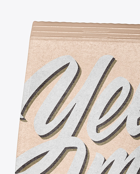Kraft Coffee Bag Mockup