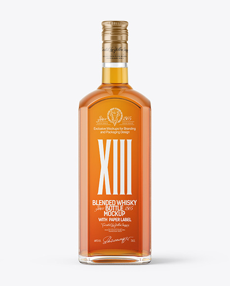 Glass Whisky Bottle Mockup