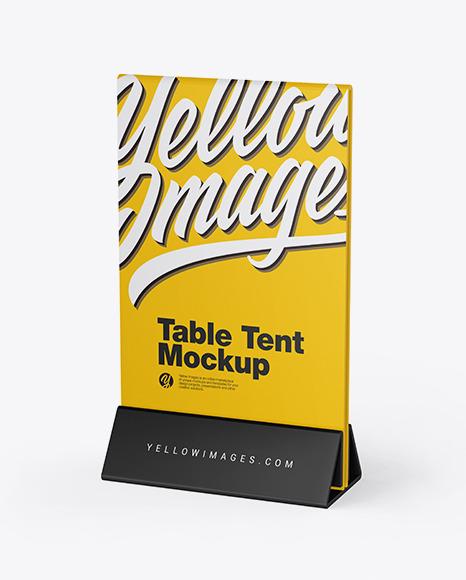 Download Plastic Table Tent PSD Mockup