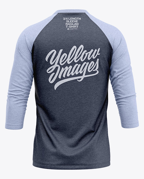 Download Mens Heather Short Sleeve T Shirt Mockup Back View Yellowimages