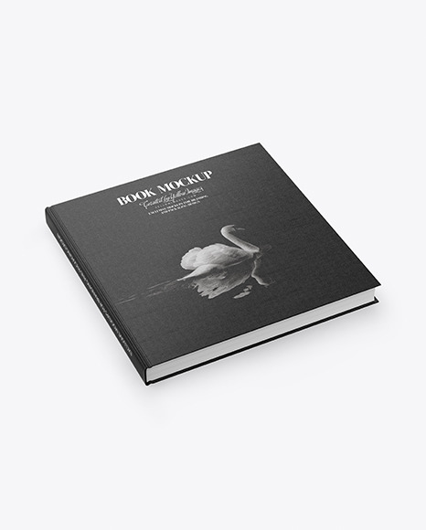 Download Book w Fabric Cover High Angle Shot PSD Mockup