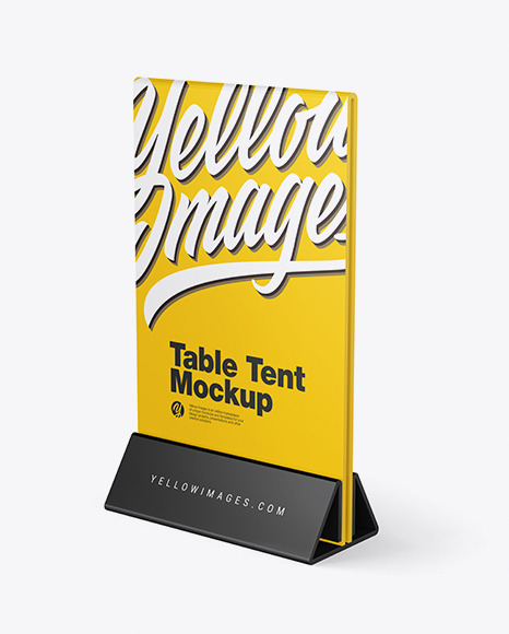 Download Plastic Table Tent PSD Mockup