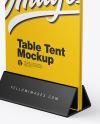 Plastic Table Tent Mockup