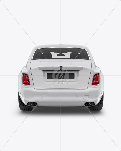 Luxury Car Mockup - Back View
