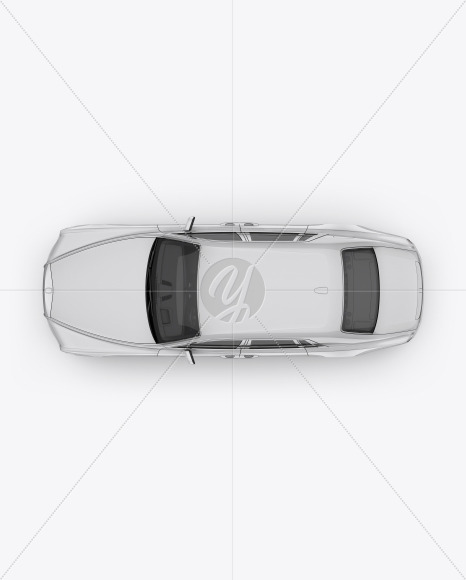Luxury Car Mockup - Top View - Yellowimages Mockups