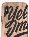 iPhone X Wooden Case Mockup