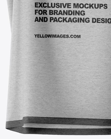 Melange Sleeveless Shirt on Hanger Mockup