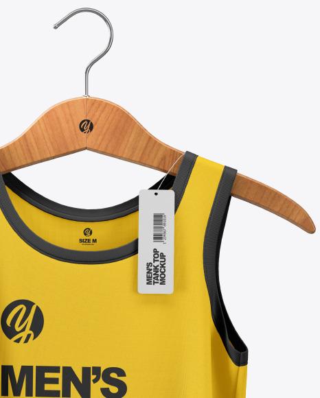 Sleeveless Shirt on Hanger Mockup