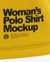 Women's Short Sleeve Polo Shirt Mockup - Front View