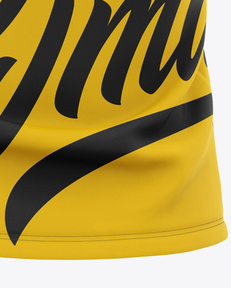 Women's Short Sleeve Polo Shirt Mockup - Back View