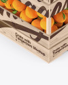 Wooden Crate with Tangerines Mockup - Half Side View