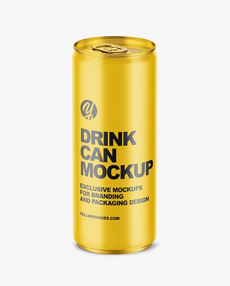Download 250ml Matte Aluminium Drink Can PSD Mockup