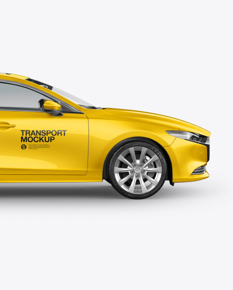 Download Sedan Side View PSD Mockup