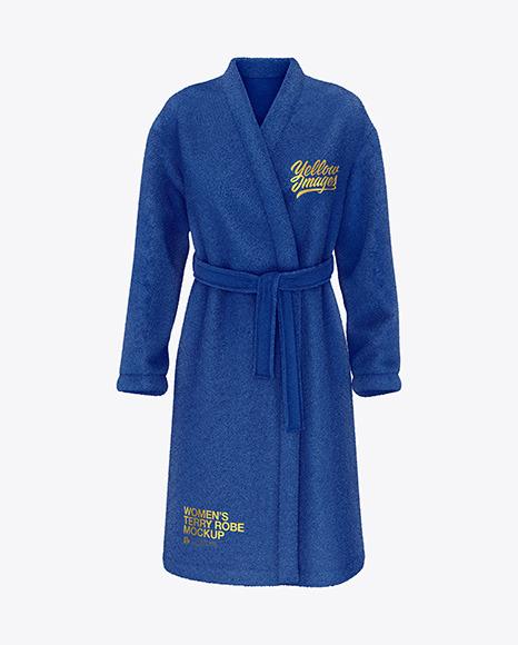 Download Womens Terry Robe Front View PSD Mockup
