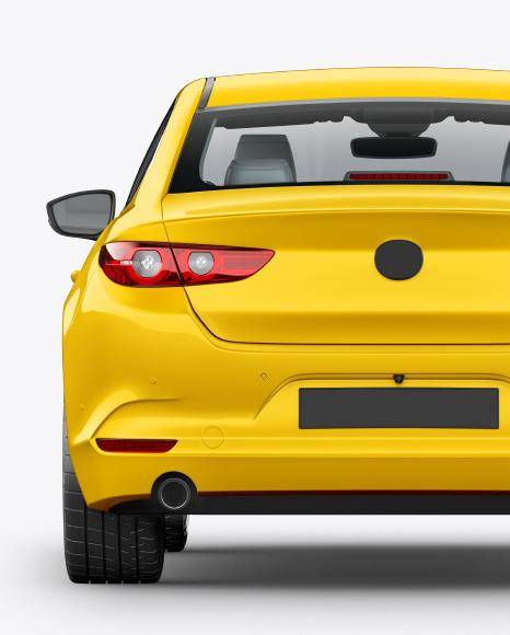 Download Sedan Back View PSD Mockup