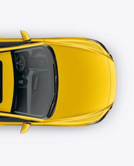 Download Sedan Top View PSD Mockup