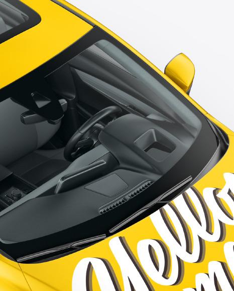 Sedan Mockup - Half Side View (High-Angle Shot)
