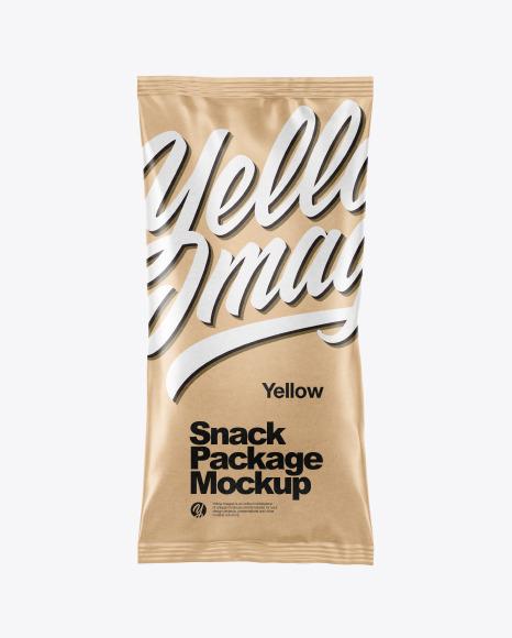 Download Kraft Paper Snack Package PSD Mockup