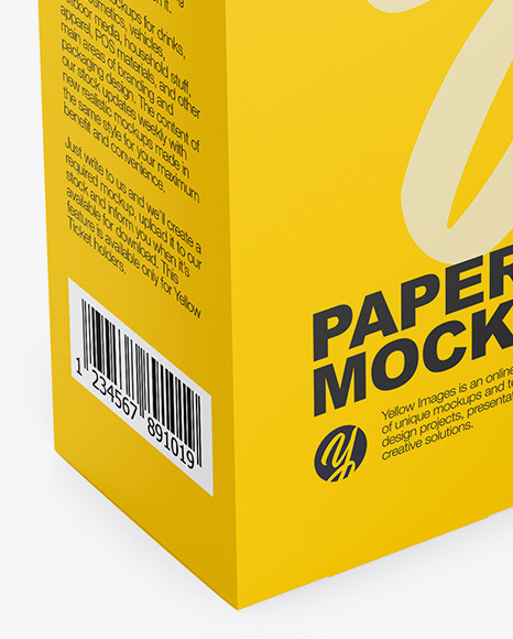 Matte Paper Box - Half Side View