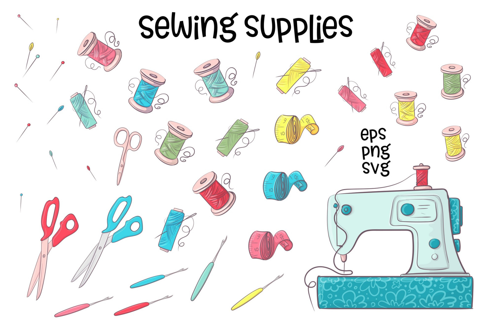 Hobby Sewing  – vector clip art