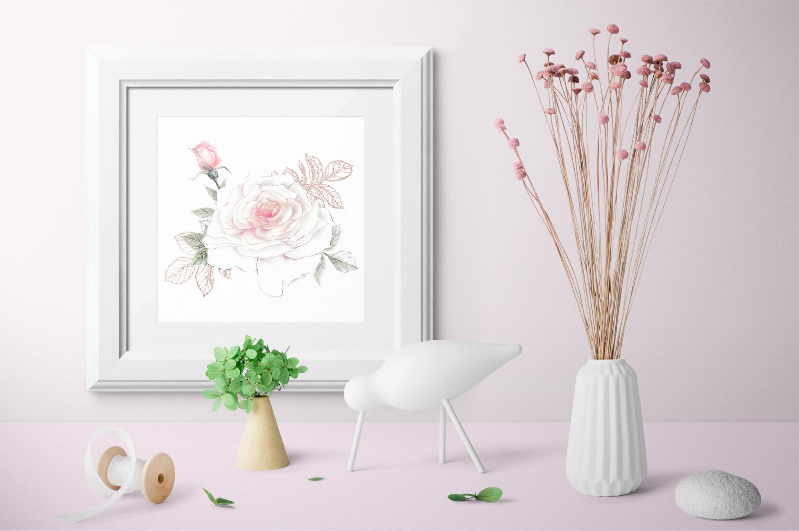 Delicate Roses – Watercolor Clip Art