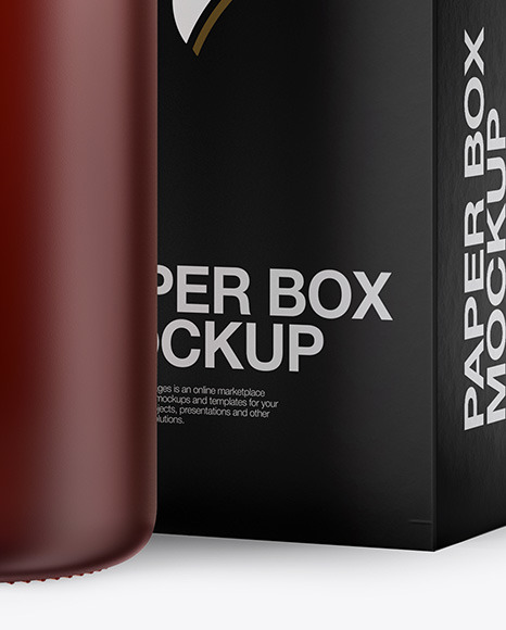 50ml Matte Dark Amber Glass Dropper Bottle W/ Box