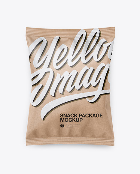 Download Kraft Snack Package PSD Mockup