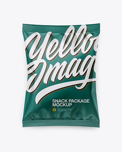 Download Matte Snack Package PSD Mockup