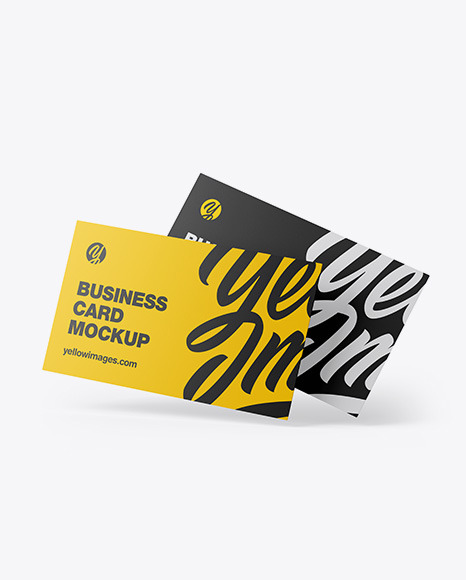 Download Two Business Cards PSD Mockup