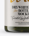 Antique Green Wine Bottle Mockup