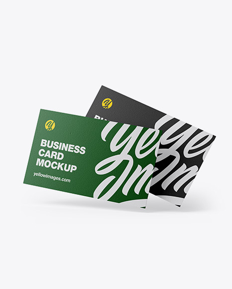 Download Two Textured Business Cards PSD Mockup