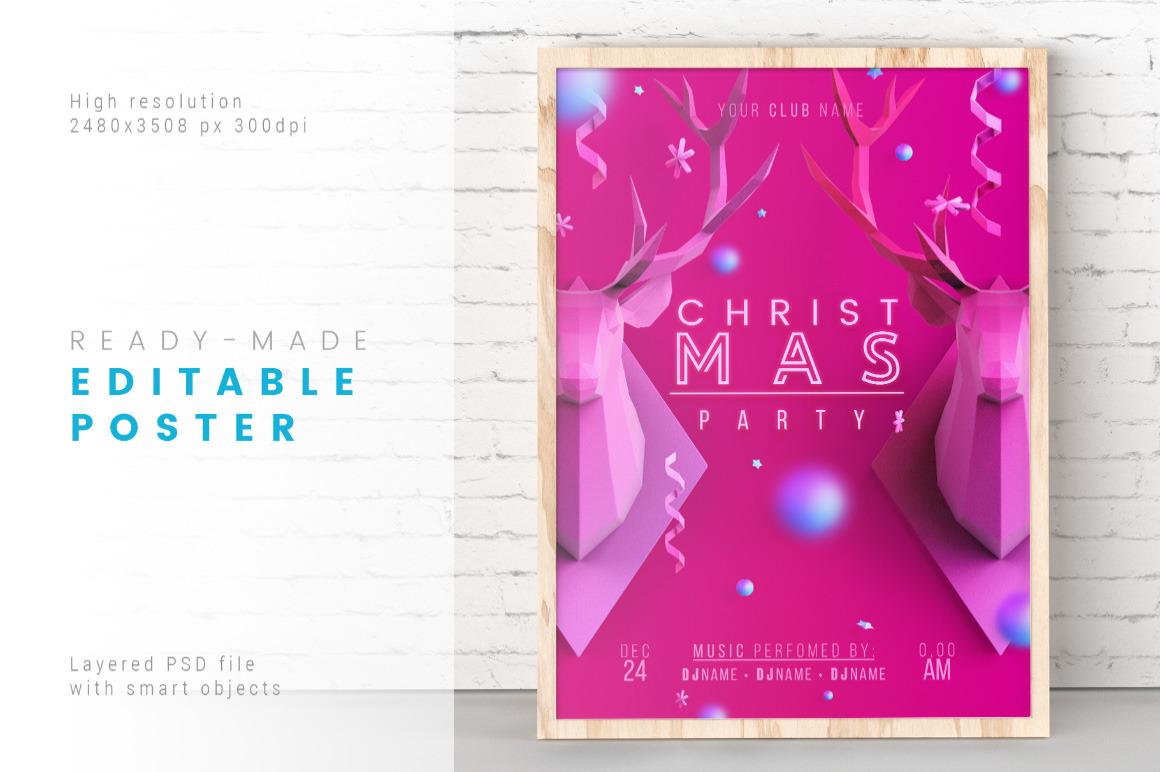 Incarnadine Christmas / Layered PSD