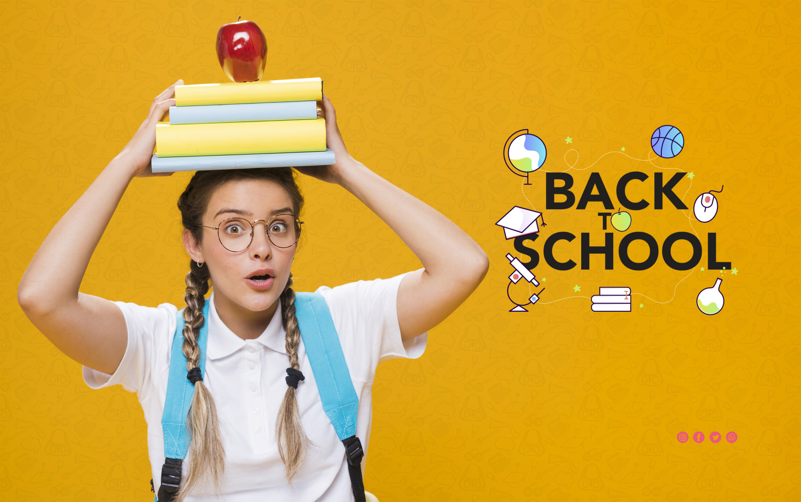 School & Education Color Line Icons