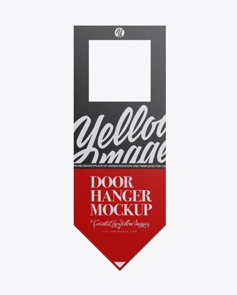 Download Paper Door Hanger PSD Mockup