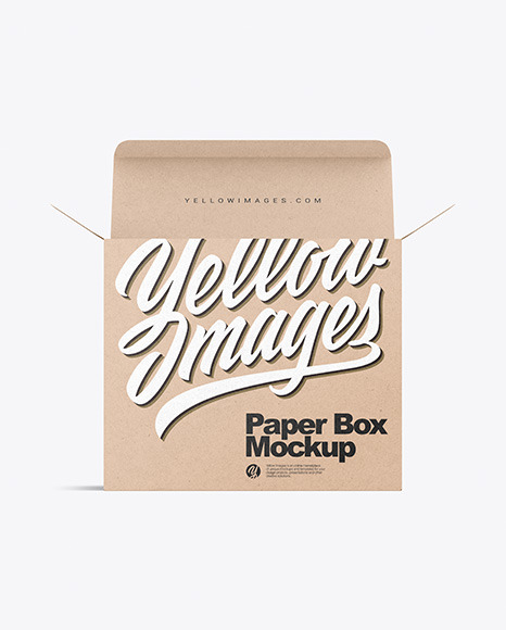 Download Opened Kraft Box PSD Mockup