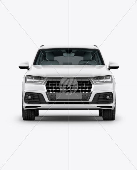 Crossover SUV Mockup - Front View - Yellowimages Mockups