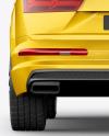 Crossover SUV Mockup - Back View