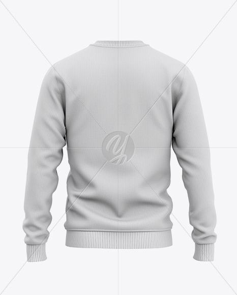 Men's Crew Neck Sweatshirt / Sweater Mockup - Back View