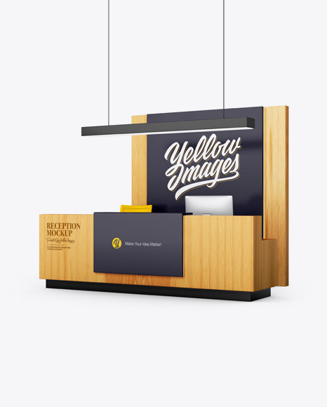 Reception Mockup In Object Mockups On Yellow Images Object Mockups